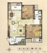 恒基时代广场2室2厅1卫89平方米户型图