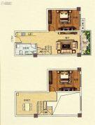 佳田西湖岸2室2厅1卫76平方米户型图