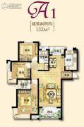 保利香槟国际3室2厅2卫130平方米户型图