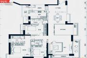 中海银海湾3室2厅1卫210平方米户型图