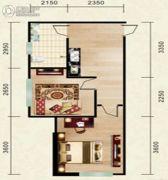 志城公馆1室1厅1卫50平方米户型图