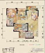 恒邦・时代青江二期3室2厅2卫80平方米户型图