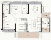 中海凯旋城3室2厅2卫118平方米户型图