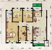 泛宇惠港新城4室2厅2卫122平方米户型图