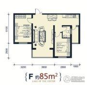 滨洲华府2室1厅1卫85平方米户型图