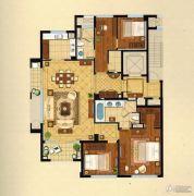 绿城・�Z园4室2厅2卫180平方米户型图