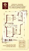 华溪龙城二期2室2厅1卫101平方米户型图