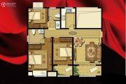 书香华府3室2厅2卫116平方米户型图