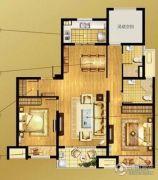 万科MixTown3室2厅2卫115平方米户型图