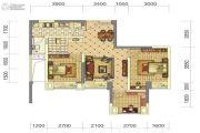 中铁骑士府邸3室2厅2卫67平方米户型图