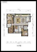 万科金域蓝湾溪望4室2厅2卫112平方米户型图