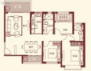 恒大帝景3室2厅2卫124平方米户型图