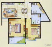 明瑞花园2室2厅1卫79平方米户型图