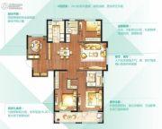 朗诗太湖绿郡4室2厅2卫147平方米户型图
