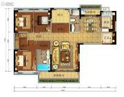 珠江金茂府4室2厅2卫169平方米户型图
