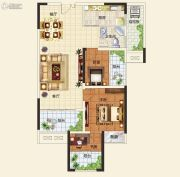 中建观湖国际3室2厅1卫89平方米户型图
