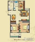 佳源・公园一号3室2厅1卫111平方米户型图