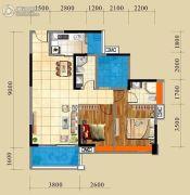 江滨・香格里3室2厅2卫89平方米户型图
