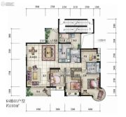 大信君汇湾4室2厅2卫193平方米户型图