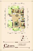 联发・君澜天地3室2厅2卫125平方米户型图