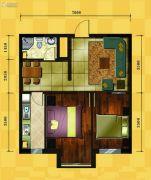 十三街区2室2厅1卫71平方米户型图