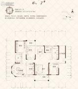 晟领国际4室3厅2卫222--218平方米户型图