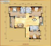 香岸华府二期3室2厅2卫134平方米户型图