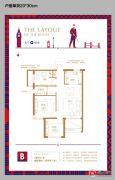 巨富九�Z湾3室2厅1卫89平方米户型图