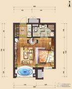 国信南山1室1厅1卫50平方米户型图