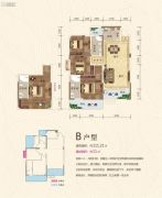 鸿豪城四期七里香3室2厅2卫111平方米户型图
