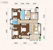 畔山林语3室2厅2卫143平方米户型图