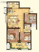 济南世茂天城3室2厅1卫93平方米户型图