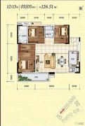 侨园・黄金海岸3室2厅2卫0平方米户型图