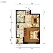 五矿・弘园1室1厅1卫53平方米户型图