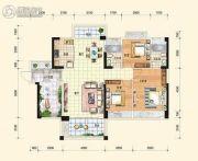 中通水岸3室2厅2卫120平方米户型图