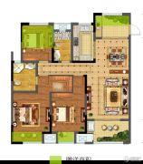 碧桂园仙林东郡3室2厅2卫128平方米户型图