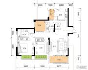公园置尚2室2厅2卫80平方米户型图