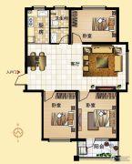 鼓浪屿小镇3室2厅1卫115平方米户型图
