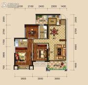 万盛・中央公馆3室2厅2卫97平方米户型图