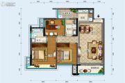 中德英伦联邦3室2厅2卫97平方米户型图