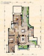珠江城3室2厅2卫81平方米户型图