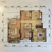 金地锦城3室2厅2卫126平方米户型图