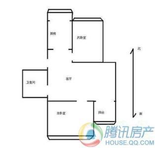 东旭花园公寓2室户型图