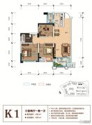 天立香缇华府3室2厅1卫83--91平方米户型图