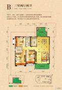 宁郡华府3室2厅2卫119--121平方米户型图