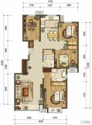 首开国风美唐4室1厅2卫140平方米户型图