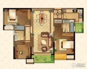 星河国际3室2厅2卫124平方米户型图