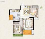 东宝康园2室2厅1卫85平方米户型图