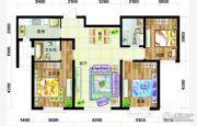 天庆国际新城3室2厅2卫123平方米户型图
