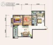 幸福汇2室2厅1卫89平方米户型图